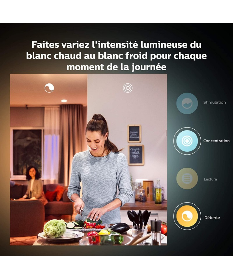 Philips Hue Ampoule LED Connectée White E14
